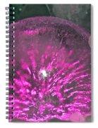 Frozen Fuchsia  Spiral Notebook