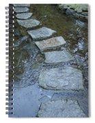 Slippery Stone Path Spiral Notebook