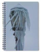 Frozen Lantern At The Falls Spiral Notebook