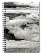 Frozen Niagara River Rapids Above Niagara Falls Spiral Notebook