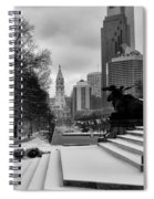 Frozen Philadelphia Spiral Notebook