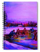 Frozen Pond Spiral Notebook