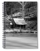 Frozen Pond In Black And White Spiral Notebook