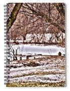 Frozen Pond Spiral Notebook