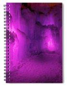 Frozen Purple Rain Spiral Notebook