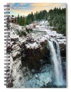 Frozen Snoqualmie Falls Spiral Notebook