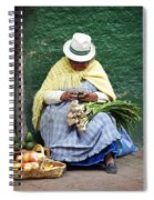 Fruit And Vegetable Vendor Cuenca Ecuador Spiral Notebook
