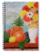Fruit Flowers And Castle Spiral Notebook