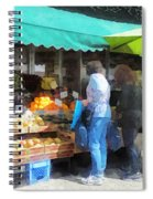 Fruit For Sale Hoboken Nj Spiral Notebook