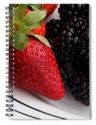 Fruit II - Strawberries - Blackberries Spiral Notebook