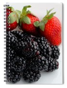 Fruit IIi - Strawberries - Blackberries Spiral Notebook