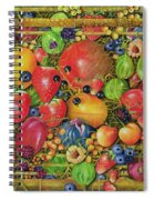 Fruit In Bamboo Box Spiral Notebook