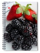 Fruit Iv - Strawberries - Blackberries Spiral Notebook