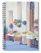 Fruit Market In Tuscany Spiral Notebook