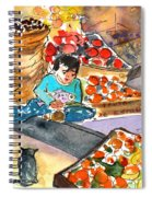 Fruit Shop In The Mountains Of Gran Canaria Spiral Notebook