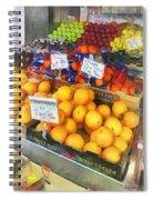 Fruit Stand Hoboken Nj Spiral Notebook