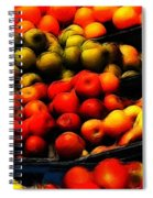 Fruits On The Market Spiral Notebook