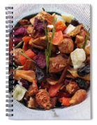 Fruity Tea With Bamboo Leaves Spiral Notebook