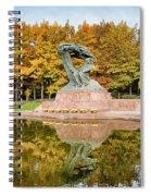 Fryderyk Chopin Statue In Warsaw Spiral Notebook