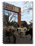 Ft Worth Trail Ride At Ft Worth Stockyard Spiral Notebook