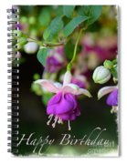 Fuchsia Birthday Card Spiral Notebook