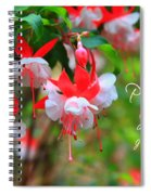 Fuchsia Blooms With Scripture Spiral Notebook