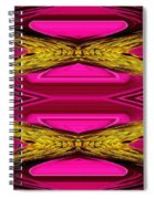 Fuchsia Sensation Zigzags Spiral Notebook