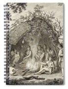 Fuegans In Their Hut, 18th Century Spiral Notebook
