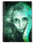 Fugue In Black And Cyan Spiral Notebook