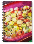 Fuji Apples In The Water Spiral Notebook
