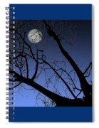 Full Moon And Black Winter Tree Spiral Notebook