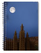 Full Moon At Bandiagara Mali Spiral Notebook