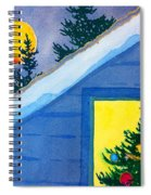Full Moon At Christmas Spiral Notebook