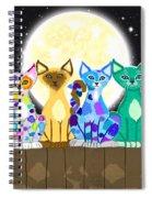 Full Moon Felines Spiral Notebook