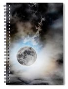 Full Moon  In Stormy Sky Spiral Notebook