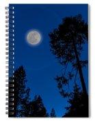 Full Moon In Yosemite Spiral Notebook