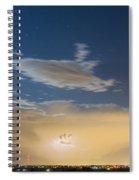 Full Moon Light Spiral Notebook