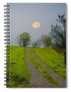 Full Moon On The Rise Spiral Notebook