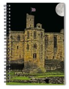 Full Moon Over Medieval Ruins Spiral Notebook