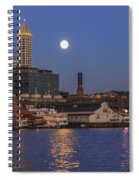 Full Moon Over Pioneer Square Spiral Notebook