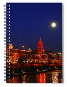 Full Moon Over Plaza Lights In Kansas City Spiral Notebook