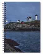 Full Moon Rise Over Nubble Spiral Notebook