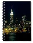 Full Moon Rising - New York City Spiral Notebook