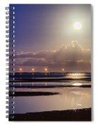 Full Moon Rising Over Sandgate Pier Spiral Notebook