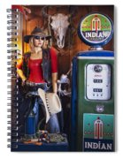 Full Service Route 66 Gas Station Spiral Notebook