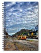 Full Throttle Csx Atlanta Bound Thru Madison Ga Spiral Notebook