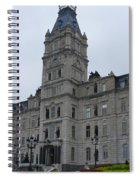 Full View Of Quebec's Parliament Building Spiral Notebook