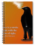 Fume Of Sighs - Williams Shakespeare Spiral Notebook