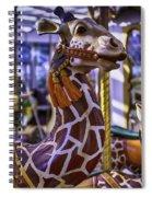 Fun Giraffe Carousel Ride Spiral Notebook