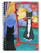 Fun House Skinny Cat Spiral Notebook